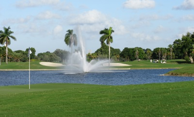 18th hole of the Blue Monster course at the Doral Golf Resort in Miami, Florida